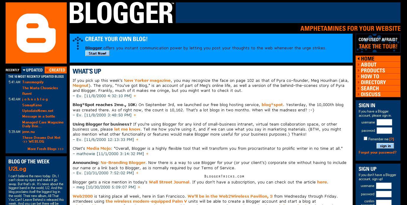Evolution of Blogger 1999 – 2012 | Umer Prince - photo#29